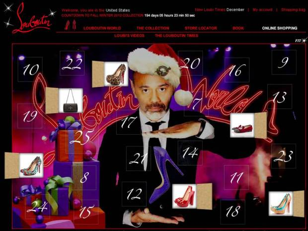 le calendrier de l avent de louboutin mode l de com 39. Black Bedroom Furniture Sets. Home Design Ideas